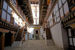 Jakar Dzong, Jakar, Bhutan Stock Photos