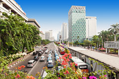 Jakarta aerial view Royalty Free Stock Images