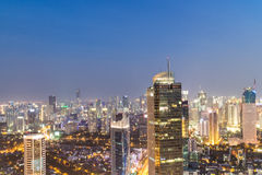 Jakarta business district at night Stock Photo