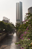 Jakarta Canal. Canal in slum of Jakarta city Indonesia stock images