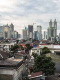 Jakarta. The capital city of Indonesia, is a mixed a modern tall buildings and older village right in the center of the city stock photo