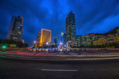 Jakarta capital of indonesia. Jakarta city downtown at dusk Royalty Free Stock Photo