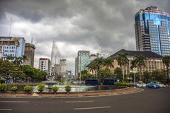 Jakarta capital of indonesia. Jakarta city downtown under storm Royalty Free Stock Images