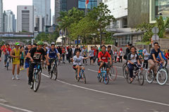 Jakarta car free day Royalty Free Stock Photography