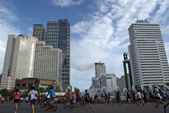 Jakarta car free day Royalty Free Stock Images