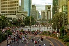 Jakarta car free day Stock Photo