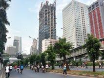 Jakarta Car Free Day. Sunday morning is car free day in Jakarta along jalan Thamrin and jalan Sudirman Stock Photo