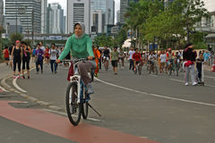Jakarta car free day Royalty Free Stock Image