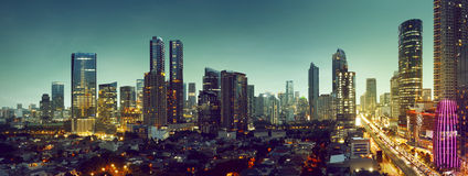Jakarta City. Building and traffic of Jakarta city, Indonesia royalty free stock image
