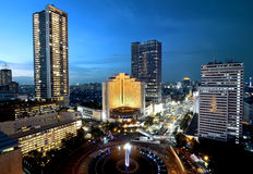 Jakarta city at night Royalty Free Stock Photo
