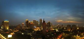 Jakarta city at night Royalty Free Stock Photography