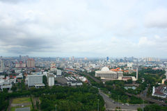 Jakarta City Panorama in Indonesia Stock Photo