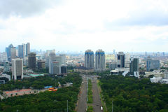 Jakarta City Panorama in Indonesia Royalty Free Stock Image