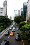 Jakarta City Panorama in Indonesia Stock Photo