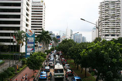Jakarta City Panorama in Indonesia Royalty Free Stock Photography