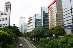 Jakarta City Panorama in Indonesia Royalty Free Stock Images