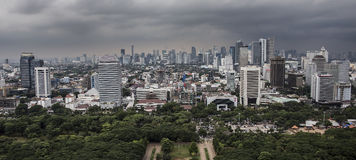 Jakarta city panorama Royalty Free Stock Image