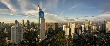 Jakarta City Skyline royalty free stock photos