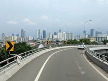 Jakarta city street. stock image