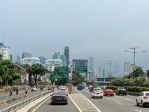 Jakarta city street. royalty free stock images