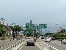 Jakarta city street. stock images