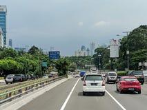 Jakarta city street. royalty free stock photography