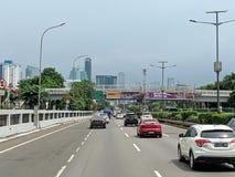 Jakarta city street. royalty free stock photo