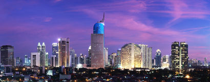Jakarta City Sunset Royalty Free Stock Photos