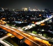 Jakarta dans la nuit Photos libres de droits