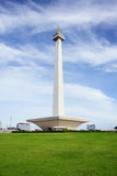 JAKARTA. December 20th, 2016. National Monument of Jakarta, Indonesia over green grasses Stock Photography