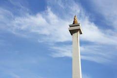 jakarta 20. Dezember 2016 Monas oder Nationaldenkmal, Symbol von Jakarta Lizenzfreies Stockfoto