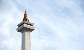 JAKARTA, el 20 de diciembre de 2016 La llama icónica de Monas Imágenes de archivo libres de regalías