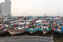 Jakarta ferry boats Stock Photography