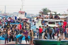 Jakarta ferry boats Royalty Free Stock Photos