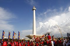 Jakarta Festival at National Monument Monas Royalty Free Stock Photography