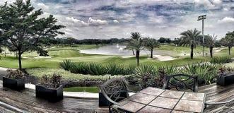 Jakarta golfbana Halim Indonesia Royaltyfri Bild