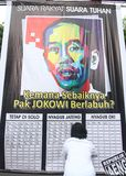 Jakarta governor election Royalty Free Stock Photo