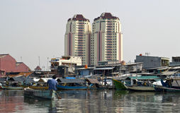 Jakarta harbor Old canal, Indonesia Royalty Free Stock Photo