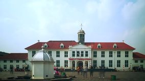 Jakarta History Museum or Fatahillah Museum stock footage