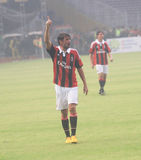 Legenda Paolo Maldini de Italia e de AC Milan Imagem de Stock Royalty Free
