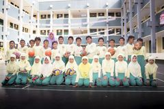 Muslim students stock image