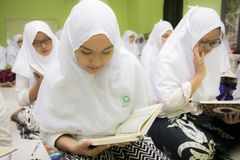 Muslim students royalty free stock photography
