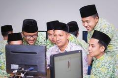 Muslim students royalty free stock image