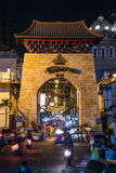Jakarta, Indonesia - circa October 2015: Entrance to Passer Baroe night market in  Jakarta Royalty Free Stock Photo