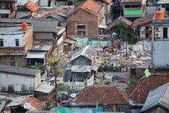 Jakarta, Indonesia - circa October 2015: Slums of Jakarta, capital of  Indonesia Stock Photography
