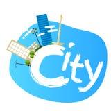 Jakarta indonesia city skyline vector illustration landscape architecture capital landmark panoramic Royalty Free Stock Images