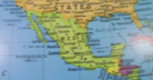 Globe with map of United States country stock video footage