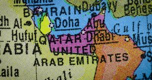 Globe with United Arab Emirates country map. Jakarta - Indonesia. February 21, 2018: Country map of United Arab Emirates region on the globe. United Arab stock video