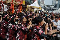Festival of culinary arts and culture of Japan. JAKARTA, INDONESIA - Festival of culinary arts and culture of Japan, Ennichisai held in Jakarta, Indonesia on Stock Images