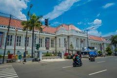 JAKARTA, INDONESIA - 3 MARZO 2017: Conti la costruzione del museo veduta dall'altro lato della via, la facciata molto piacevole,  Immagine Stock